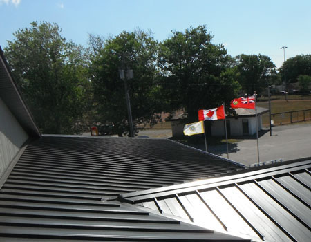 Sloped Metal Roof